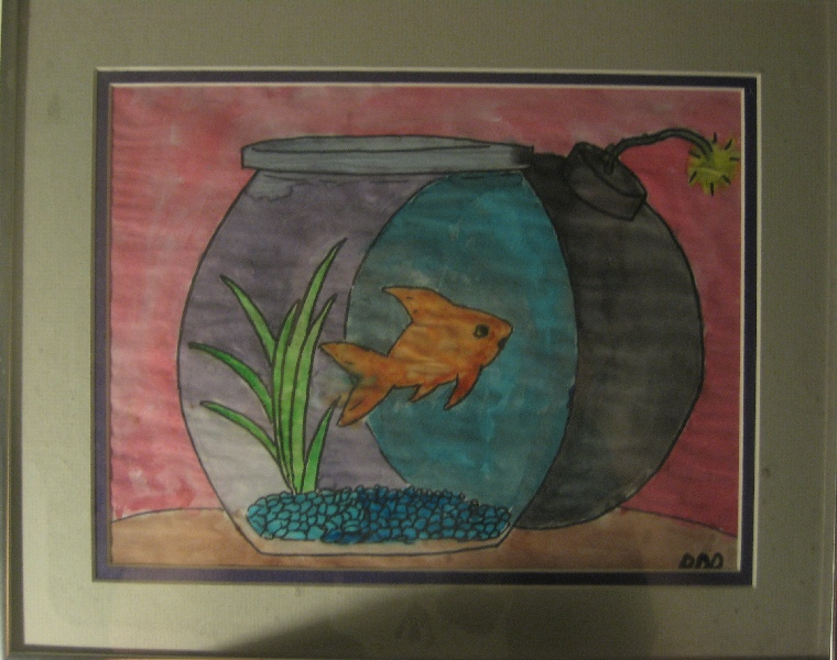 fish bomb watercolor