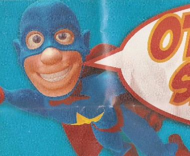 Schlub superhero from advertisement
