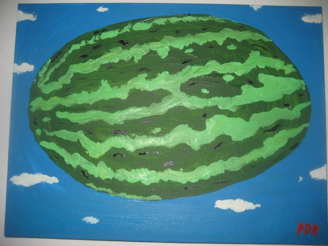Unidentified Flying Watermelon