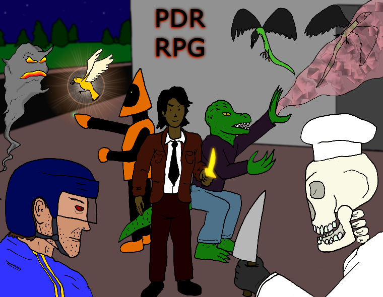 A Sample PDR RPG party